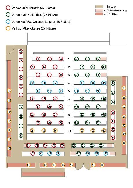 Sitzplan Abschlusskonzert 2021